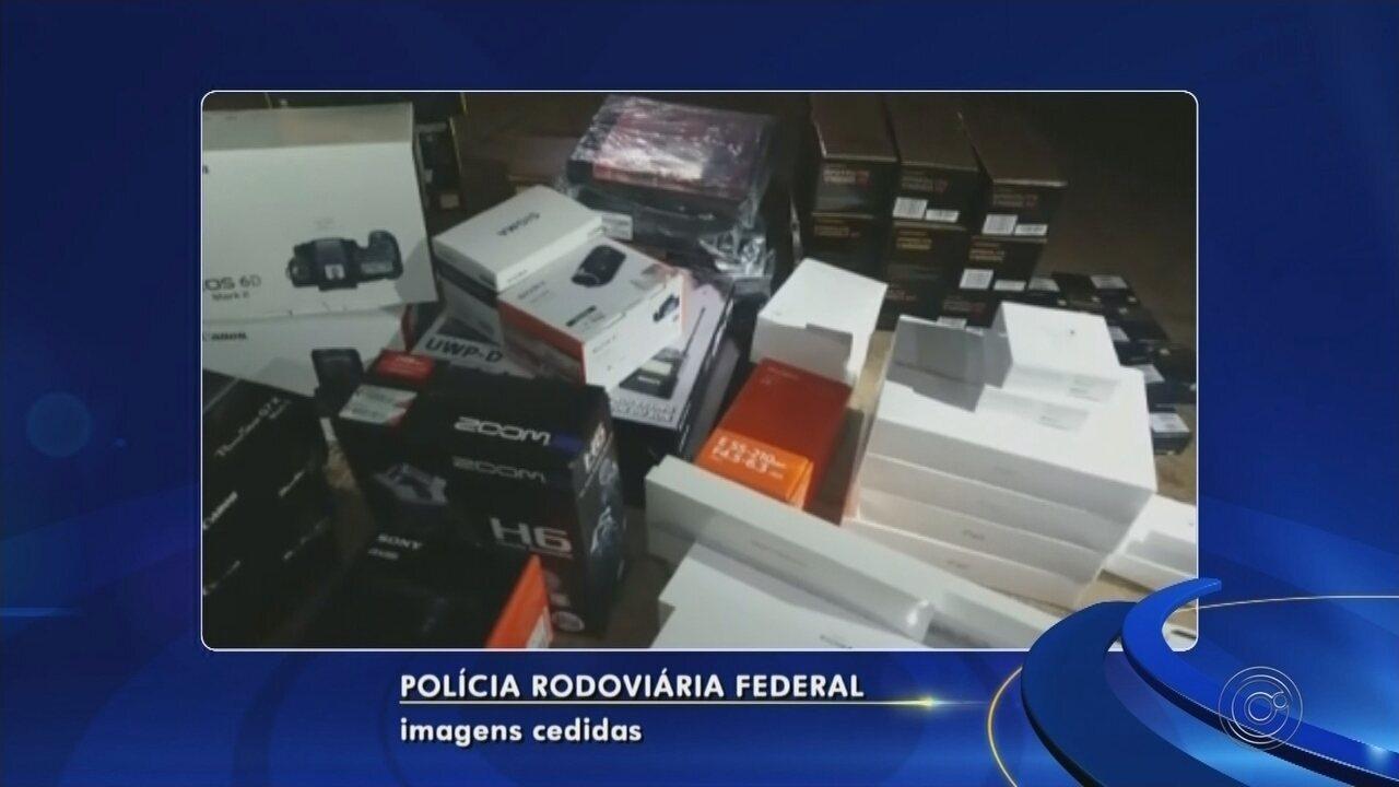 Casal é preso por transportar mercadorias do Paraguai sem documentação fiscal