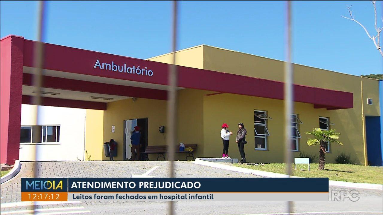 Hospital infantil de Campo Largo fecha leitos de UTI e cancela cirurgias