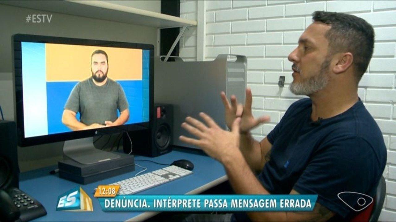 Intérprete de Libras passa mensagem de candidatos errada, no ES