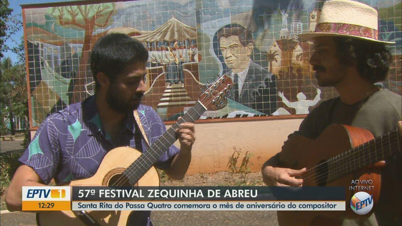 Festival Zequinha de Abreu atrai a população de Santa Rita do Passa Quatro