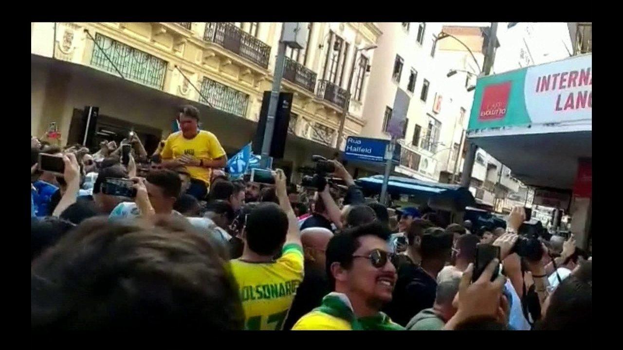 Jair Bolsonaro (PSL) é ferido em comício em Juiz de Fora