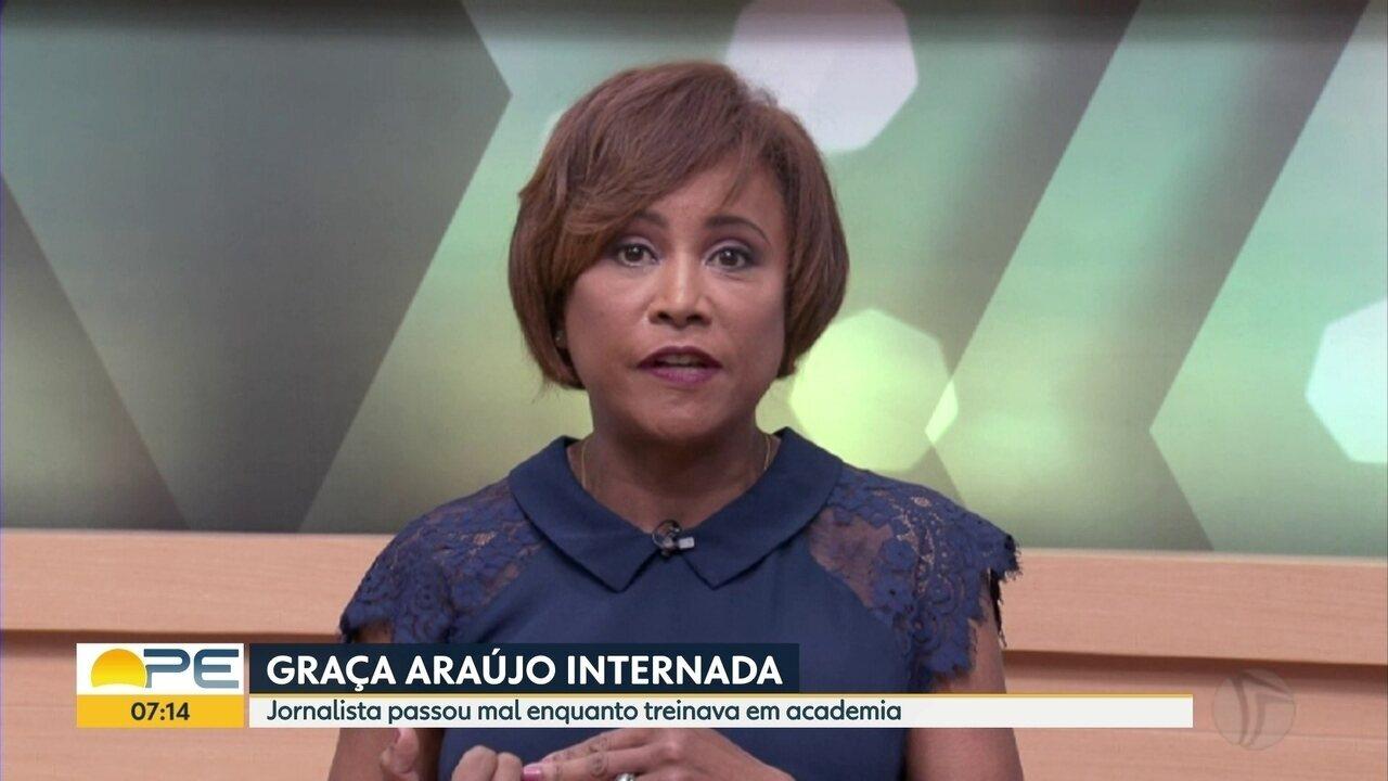 Jornalista Graça Araújo sofre AVC e é internada em hospital do Recife