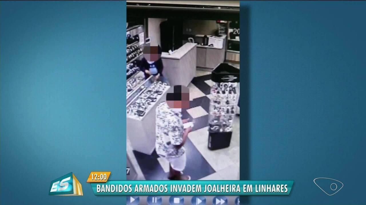 Vídeo mostra assalto à relojoaria no ES