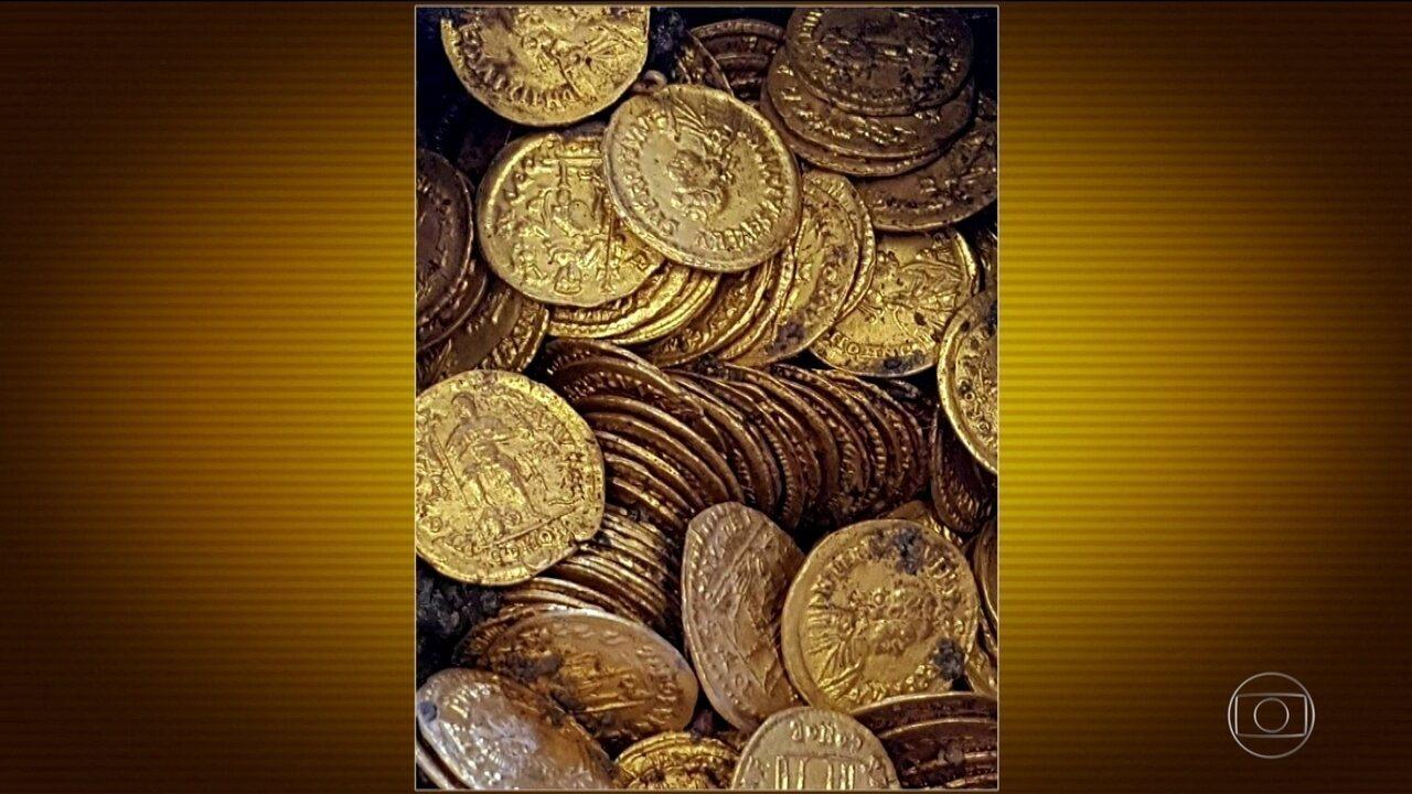 Centenas de moedas de ouro do século X são encontradas no norte da Itália