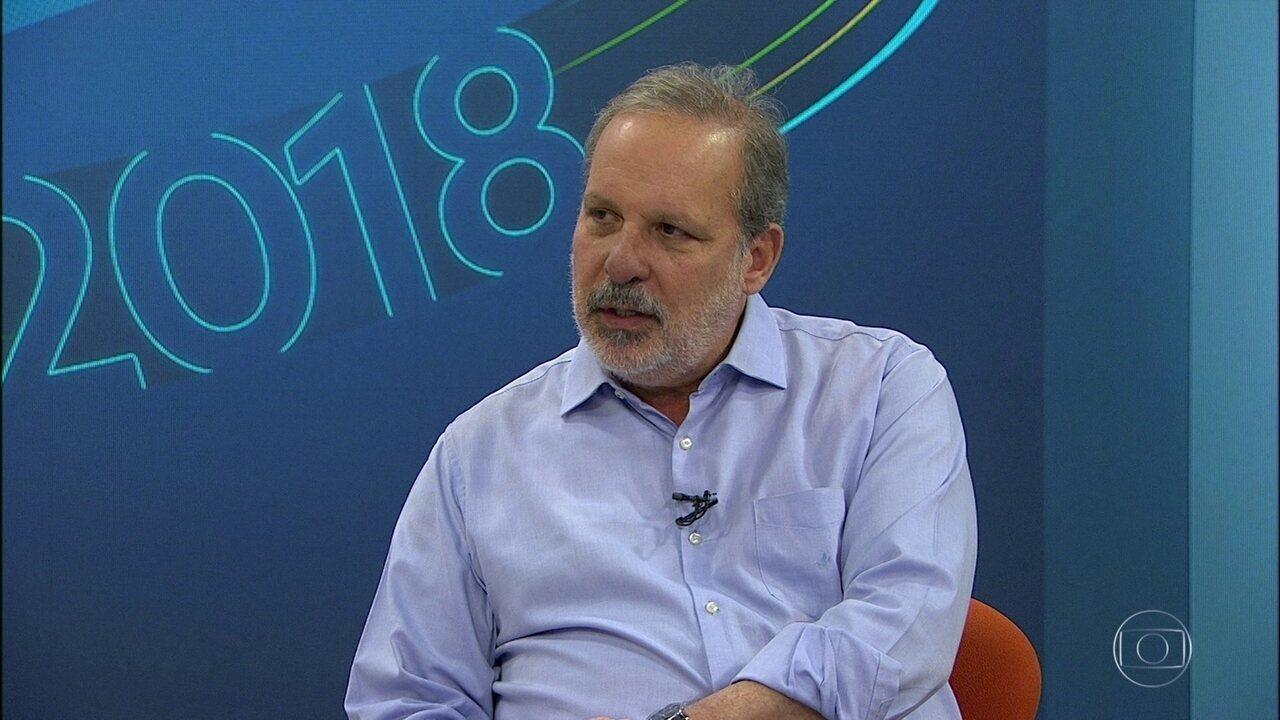 Armando Monteiro, do PTB, é entrevistado pelo NE1