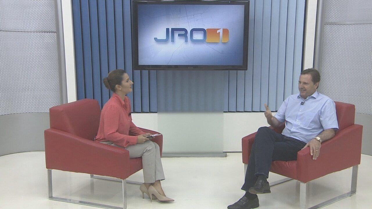 Acir Gurgacz, candidato ao governo de RO, é entrevistado no JRO 1