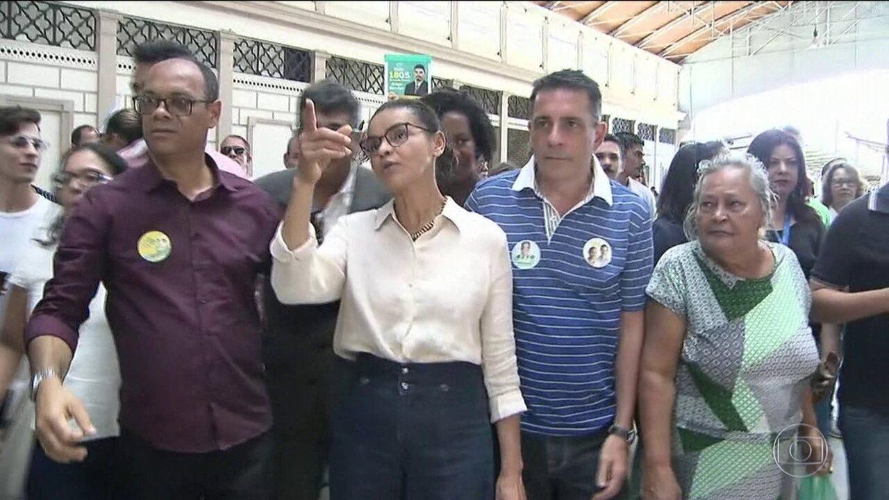 Candidata da Rede, Marina Silva faz campanha na Bahia