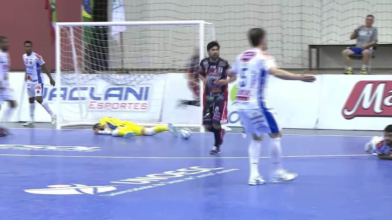 Os gols de Joaçaba 2 x 1 Cascavel pela LNF 2018 09f82d5451c8b