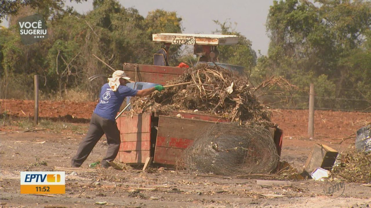 Moradores reclamam de área arborizada que virou 'lixão aberto' em Mococa