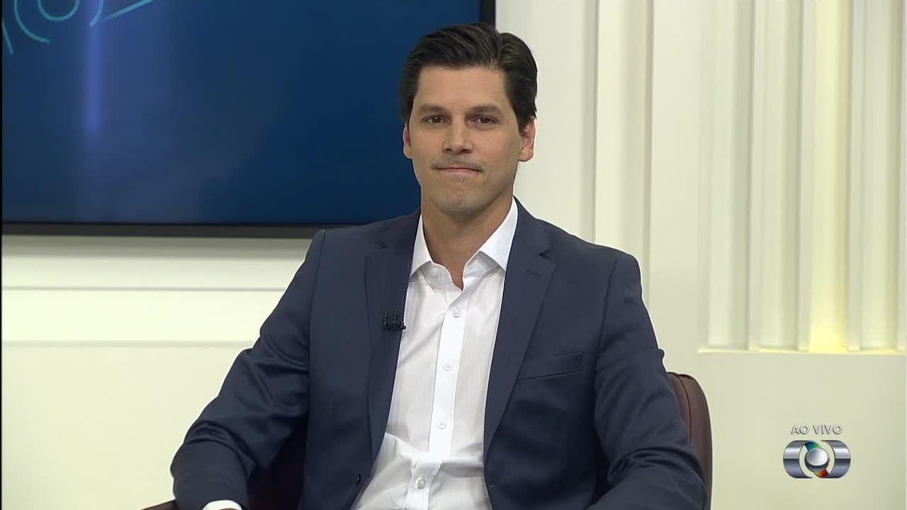 Daniel Vilela, candidato ao Governo de Goiás, é entrevistado no JA 1ª Edição