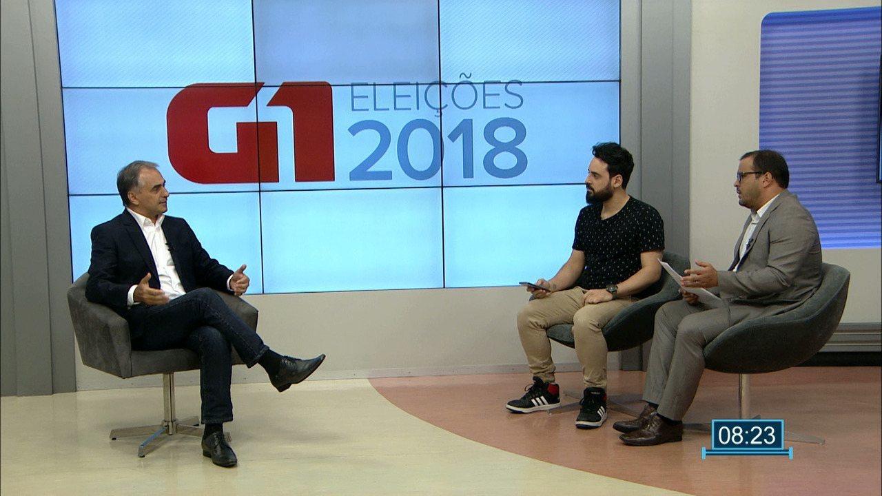 Candidato ao governo da Paraíba Lucélio Cartaxo (PV) é entrevistado pelo G1