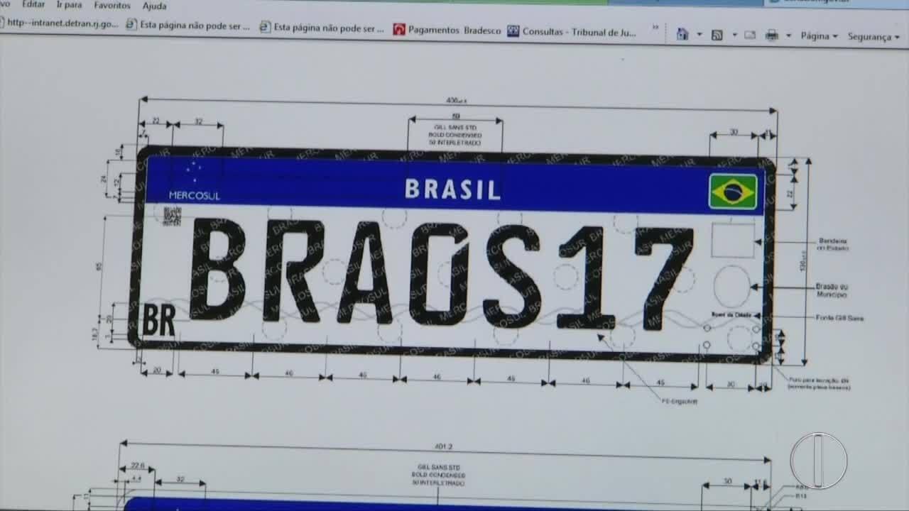Novas placas de carro já são usadas em Campos