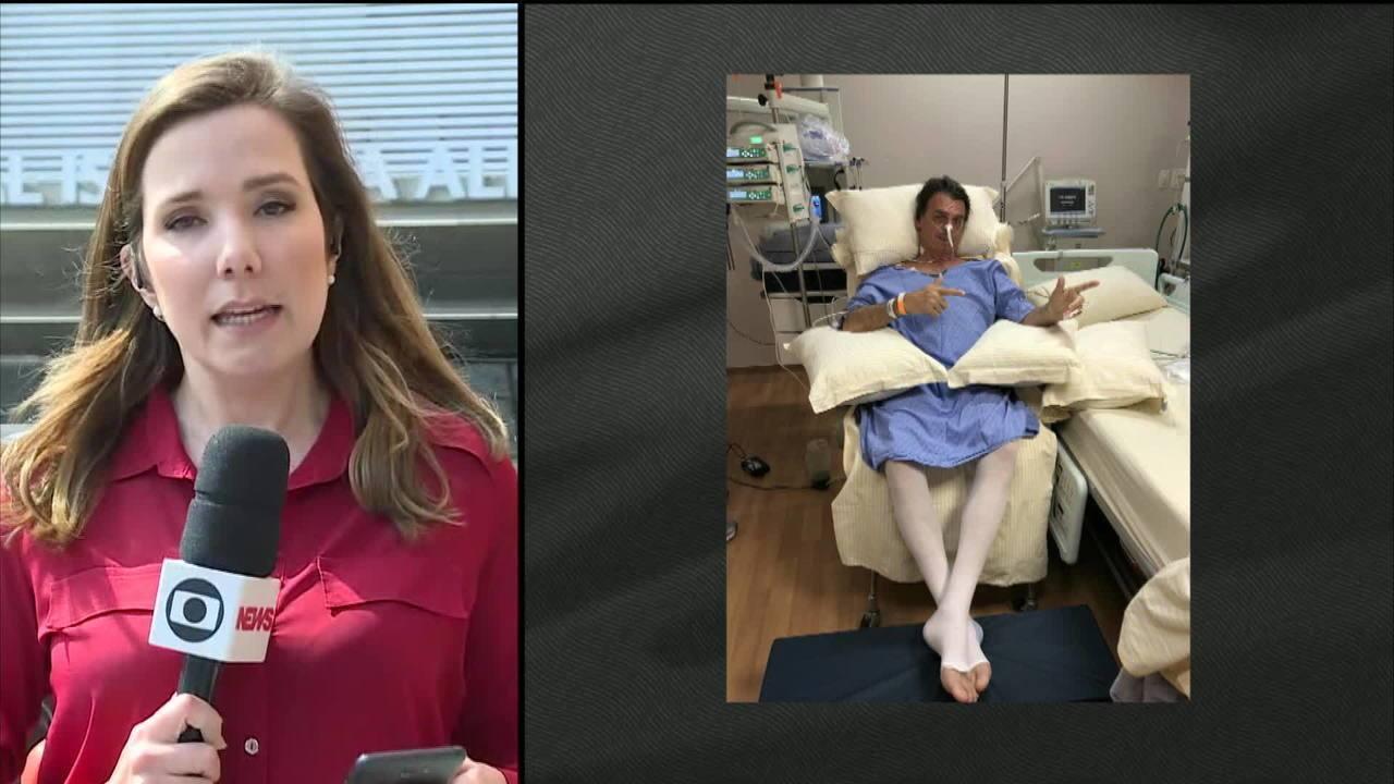 Boletim médico diz que Bolsonaro evolui bem após nova cirurgia e está na UTI