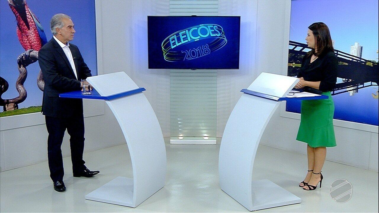 Entrevista com o candidato a governador de Mato Grosso do Sul, Reinaldo Azambuja