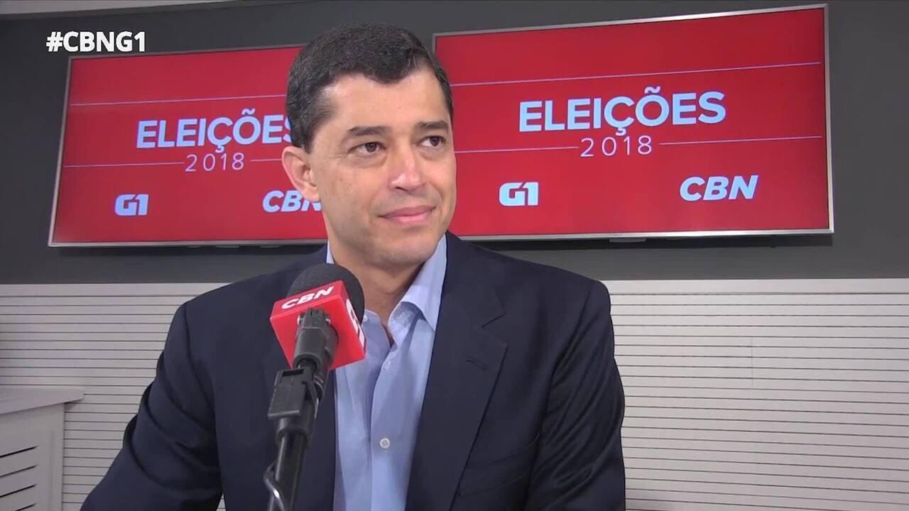 Indio da Costa (PSD) é entrevistado pelo G1 e pela CBN