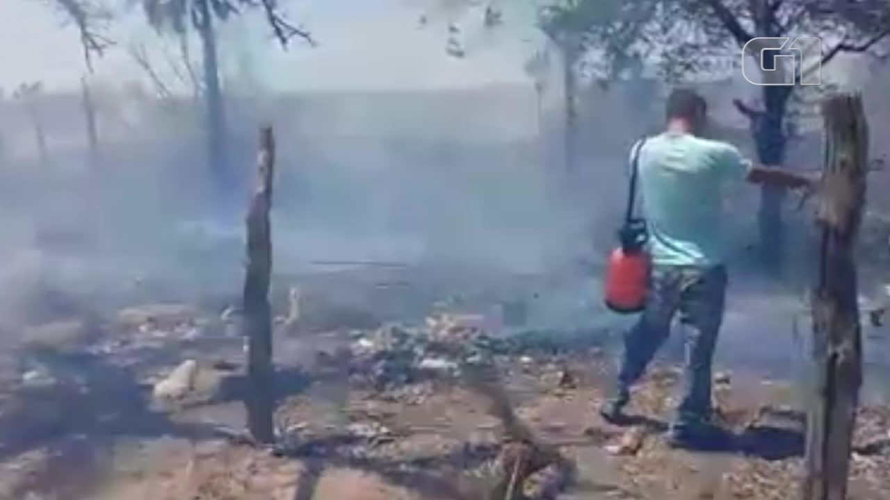 Incêndio causa pânico em São João do Piauí