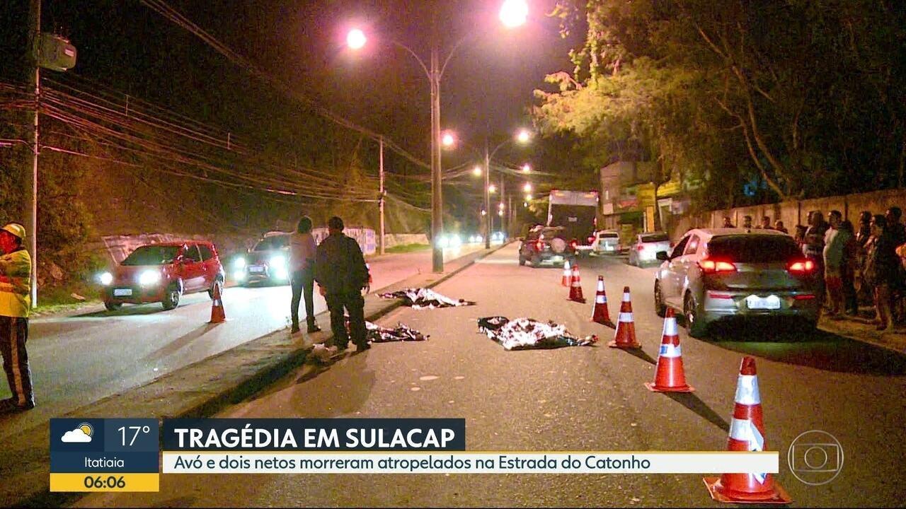 Avó e dois netos morrem atropelados em Sulacap