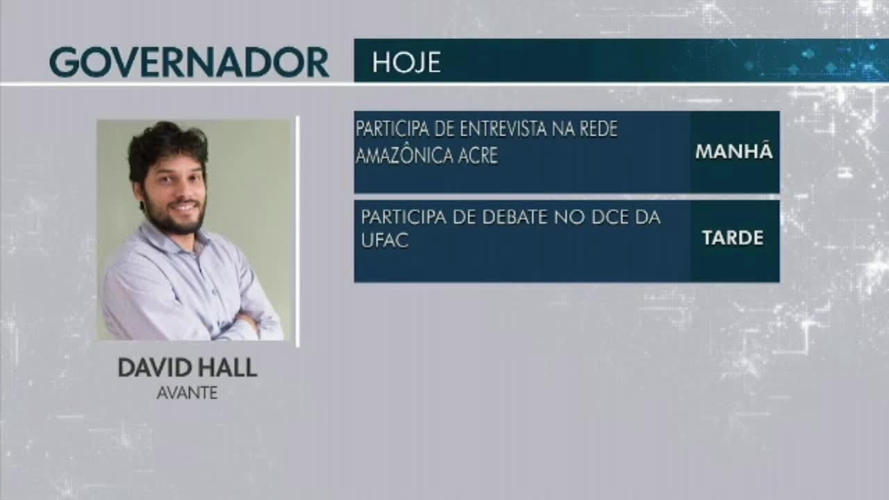 Confira a agenda dos candidatos ao Governo do Acre para esta sexta-feira(14)