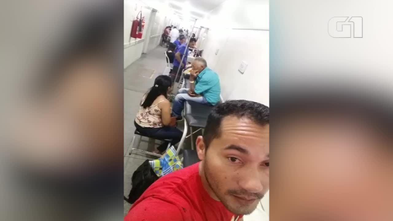 Parente de paciente denuncia superlotação e demora no atendimento no Hospital de Parnaíba