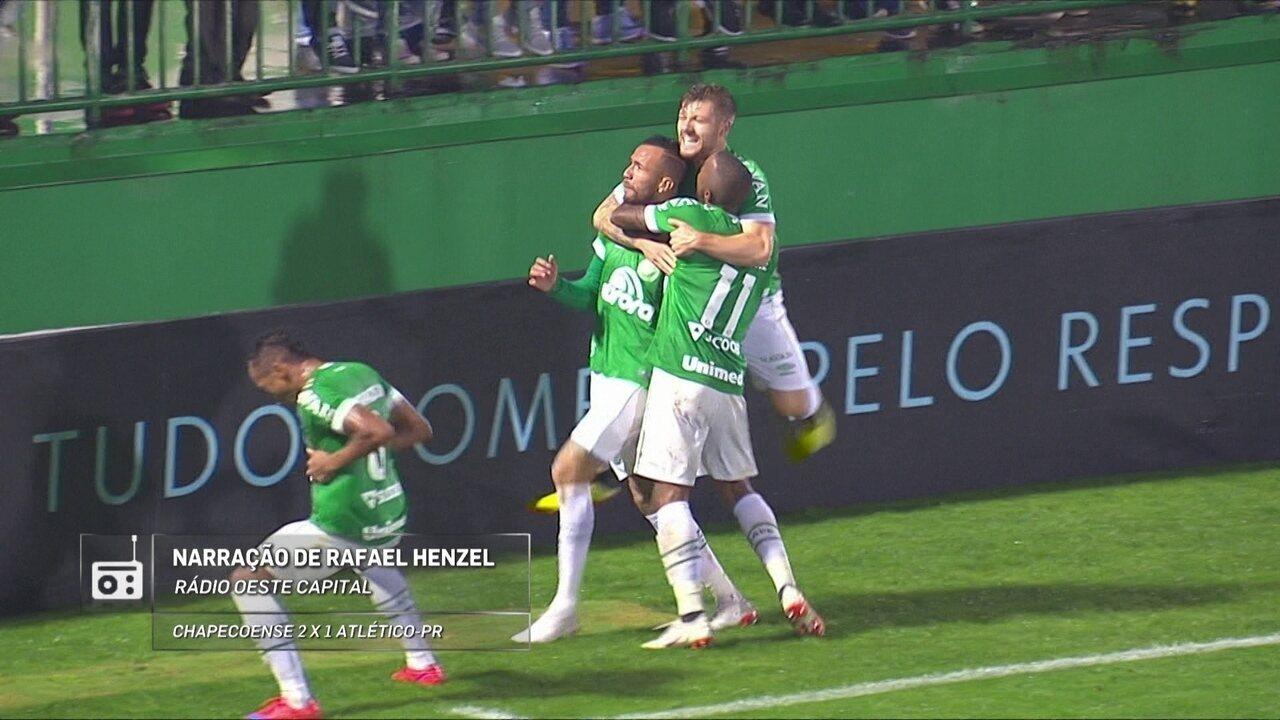 Redação AM: Rafael Henzel narra gol de Leandro Pereira, da Chape, contra o Atlético-PR