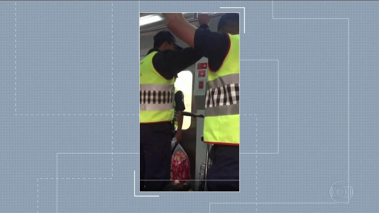 Vídeo mostra seguranças da CPTM chamando rapaz negro de
