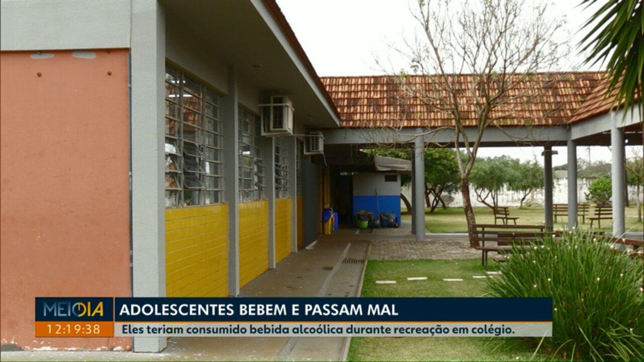 Adolescentes passam mal depois de consumirem bebida alcoólica em colégio de Cascavel
