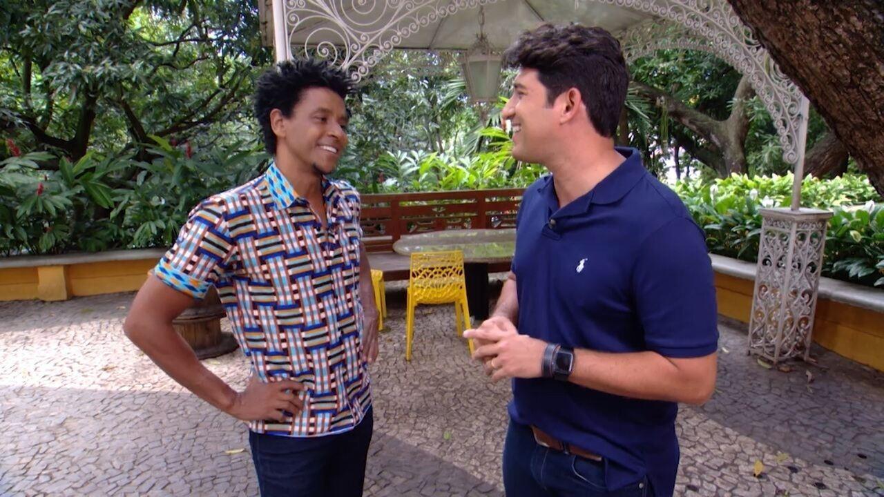 Timbó conversa com o ator e apresentador Aldri Anunicação sobre o Melanina Acentuada