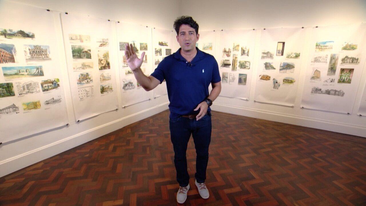 Timbó faz um tour por exposição no Goethe Institut