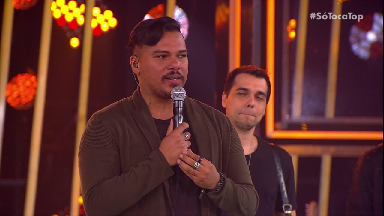 Bruno, do Sorriso Maroto, comemora volta aos palcos no 'SóTocaTop'