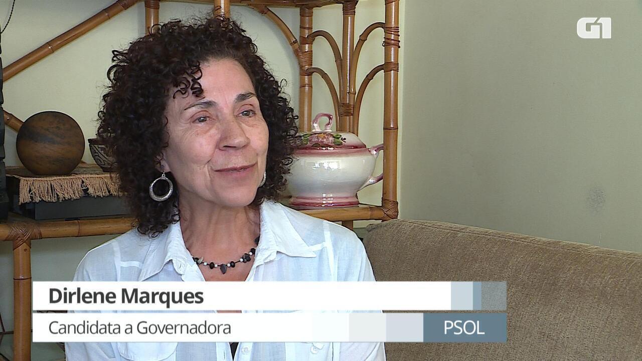 G1 entrevista Dirlene Marques, candidata ao governo de Minas pelo Psol