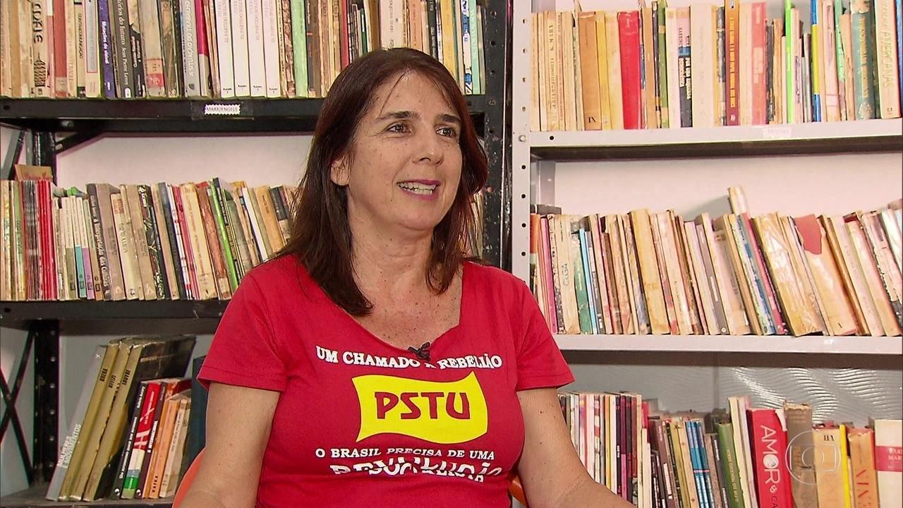 Simone Fontana, do PSTU, é entrevistada pelo NE1