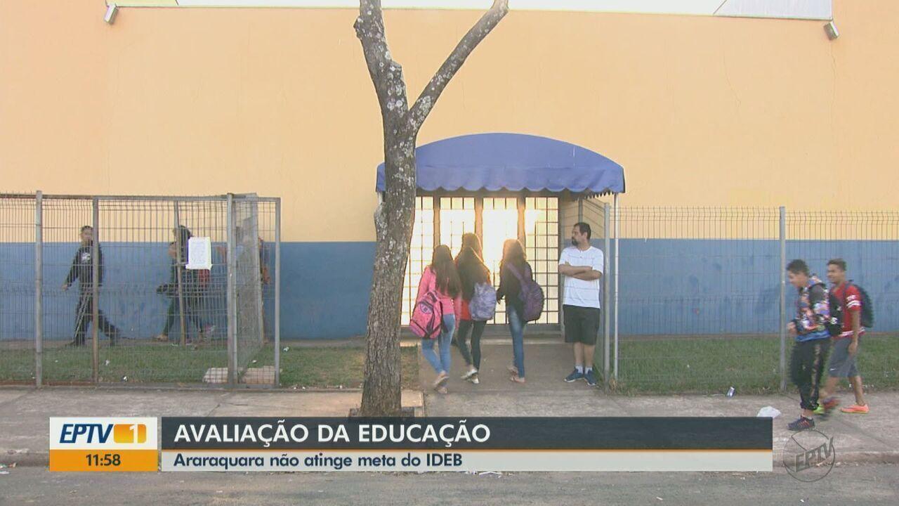 Ideb: 9º ano do Ensino Fundamental tem pior resultado em 9 anos em Araraquara