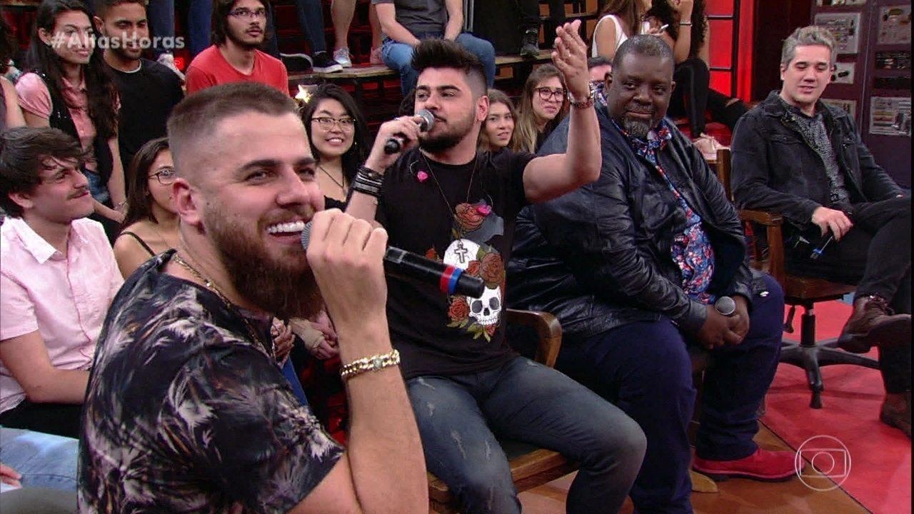 Serginho Groisman pergunta nomes verdadeiros dos convidados