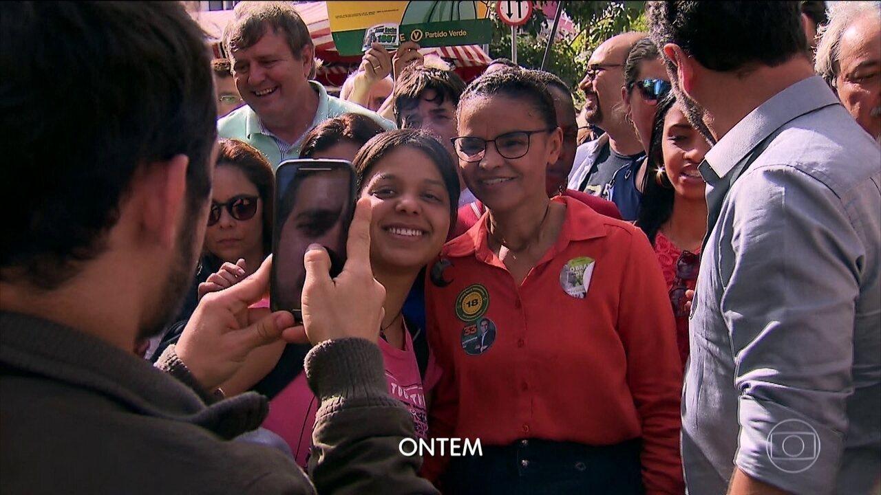 Marina Silva fez caminhada na zona leste de São Paulo