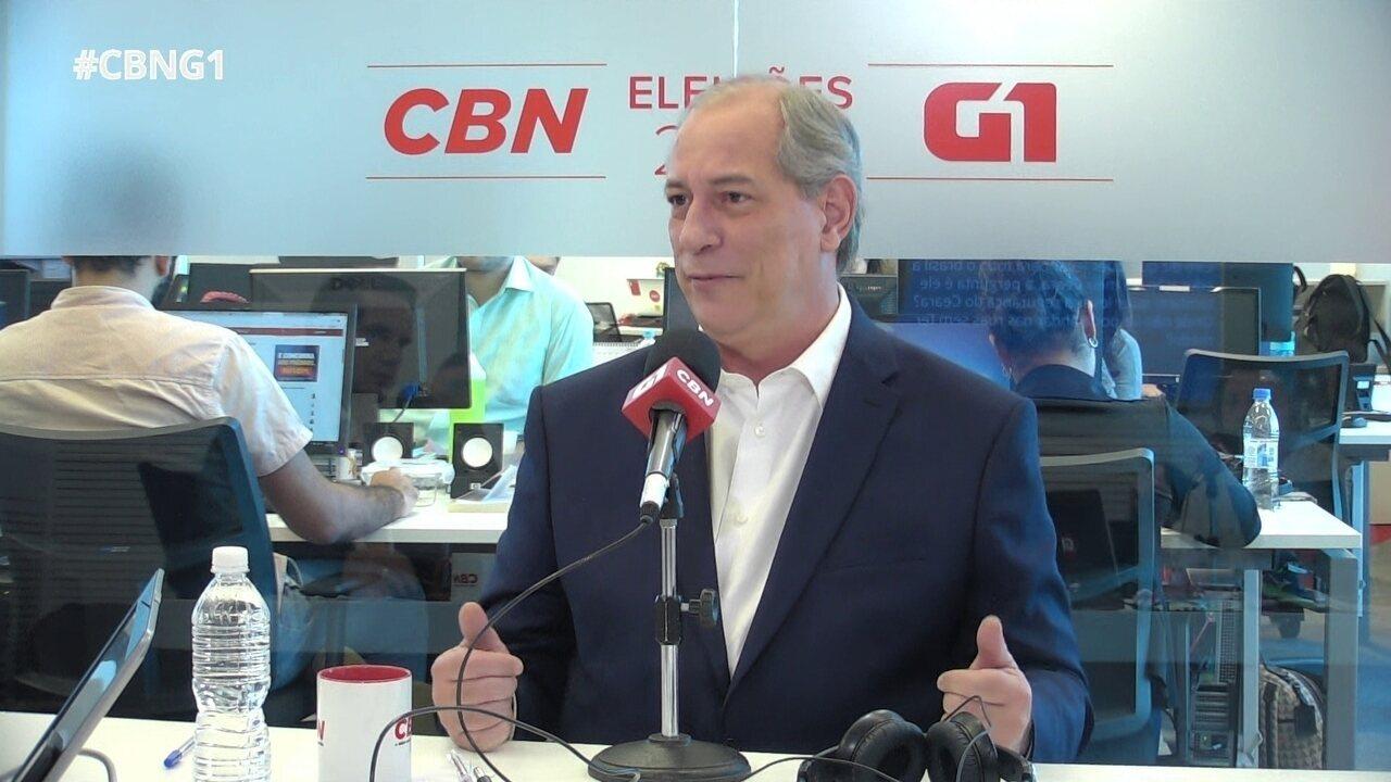 Ciro Gomes fala sobre diferenças com Haddad e critica o PT