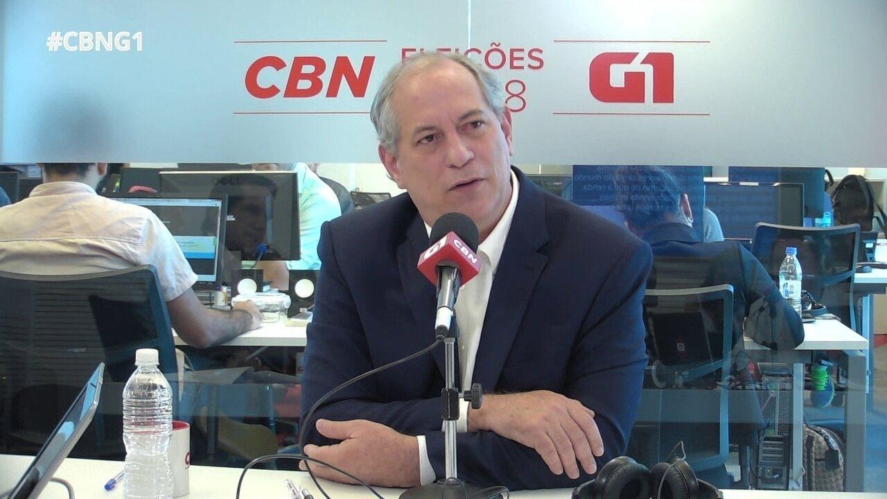 Ciro Gomes fala sobre política de preços de combustíveis e Petrobras