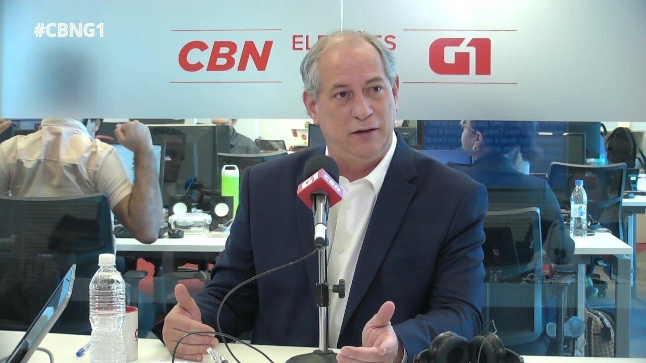 Ciro Gomes responde a perguntas sobre o Monitor da Violência