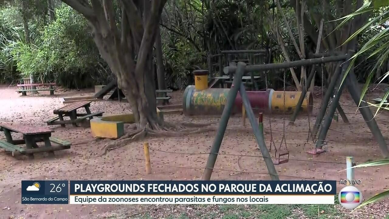 Três parques infantis são interditados no Parque da Aclimação