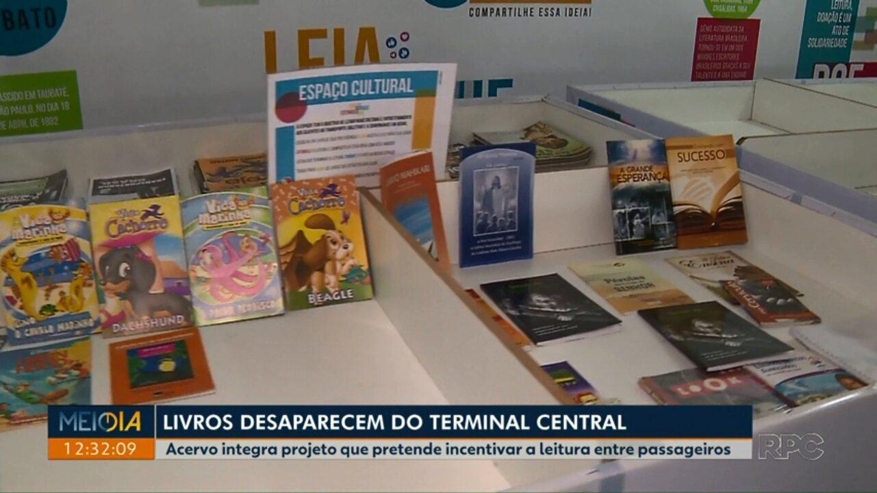 Cerca de trezentos livros desaparecem de projeto no Terminal Central de Londrina
