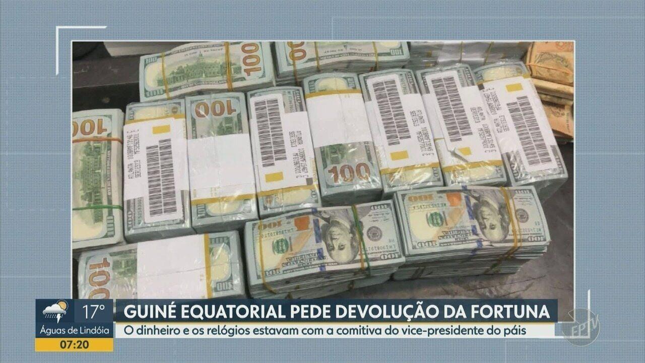 Guiné Equatorial pede devolução de fortuna apreendida em Viracopos