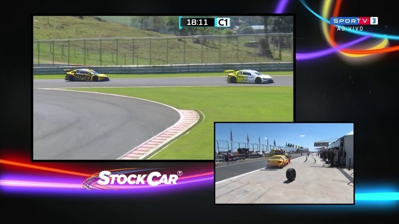 Casagrande perde a roda após pit stop na etapa de Mogi Guaçu da Stock Car