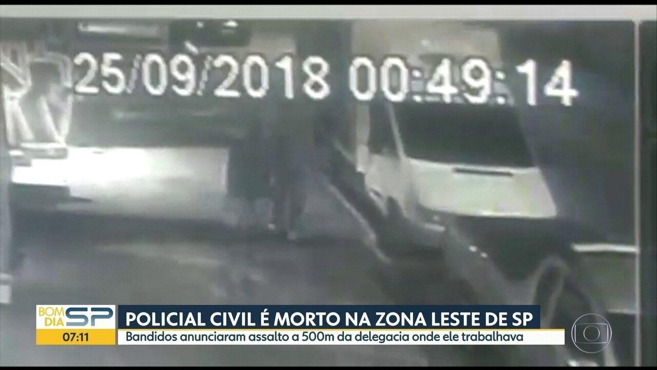 Policial civil é morto em assalto na Zona Leste de SP