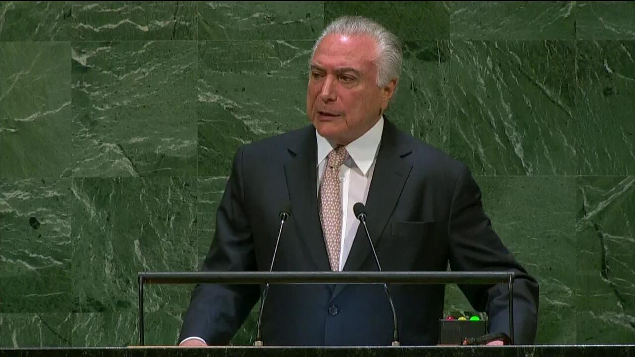 Michel Temer abre sessão de debate na Assembleia Geral da ONU