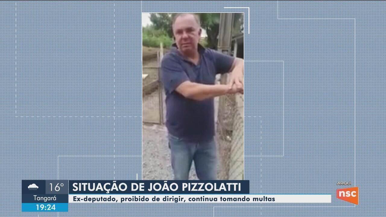 Proibido de dirigir após causar acidente, ex-deputado João Pizzolatti acumula multas em SC