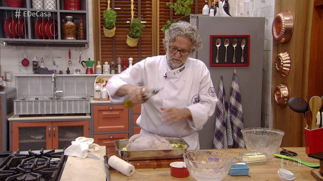 Frango Desossado Recheado ao Forno do Chef Ravioli