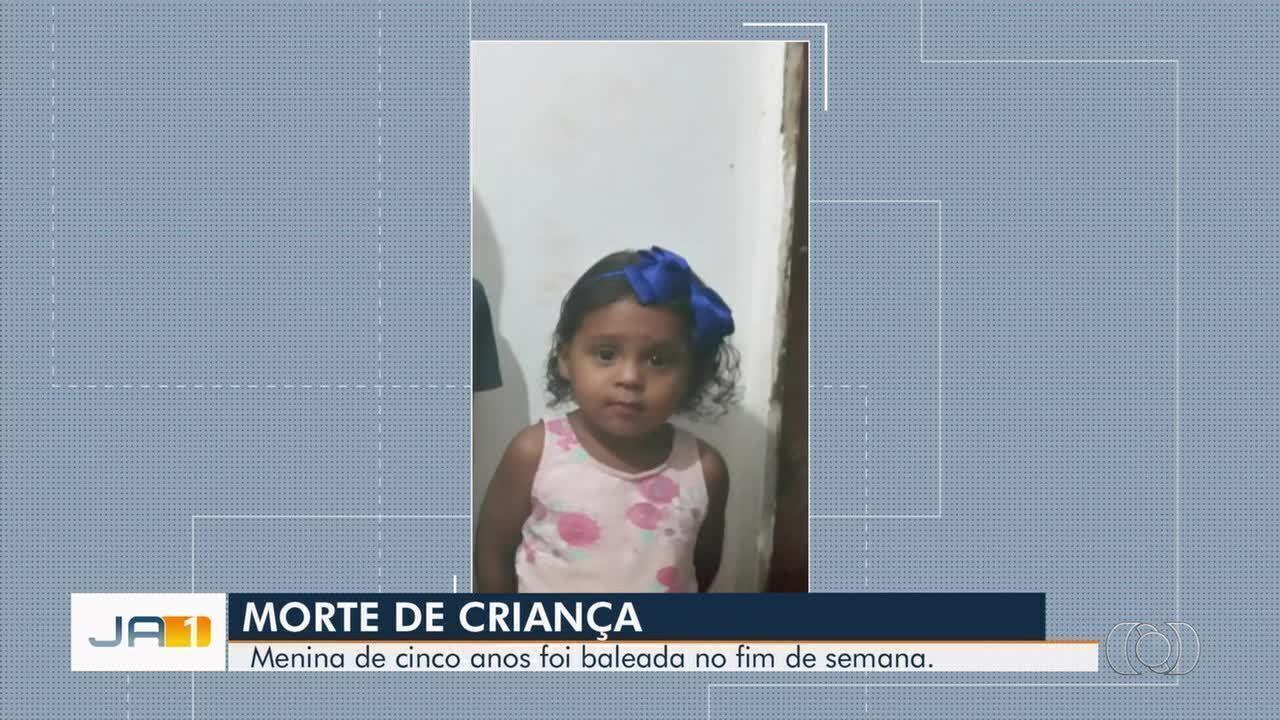 Morre menina de 5 anos baleada junto como tio em Goiânia