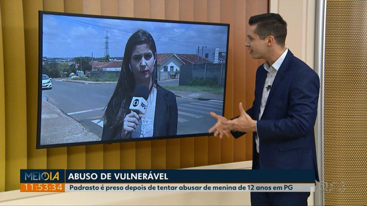 Padrasto é preso em Ponta Grossa, suspeito de tentar abusar da enteada