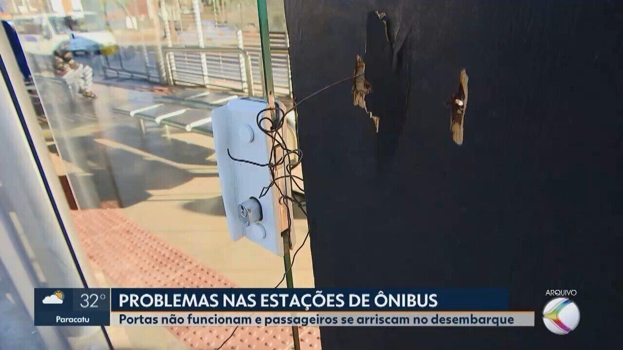 Problemas são encontrados em estações de corredores de ônibus em Uberlândia