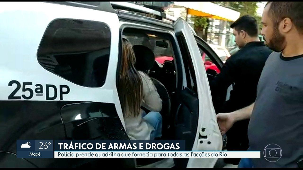 Polícia prende quadrilha que vendia drogas e armas para todas as facções do Rio