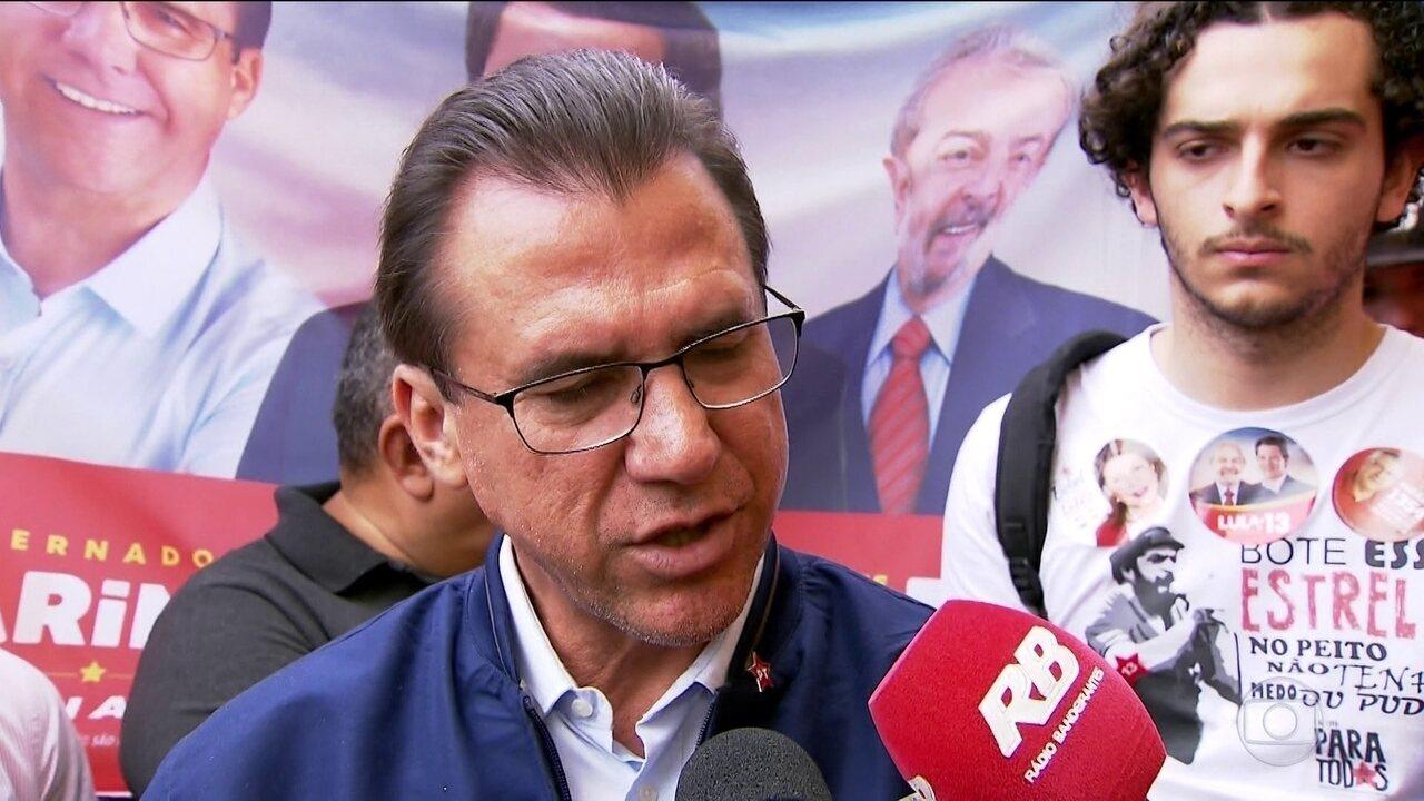 Luiz Marinho faz campanha an Zona Norte